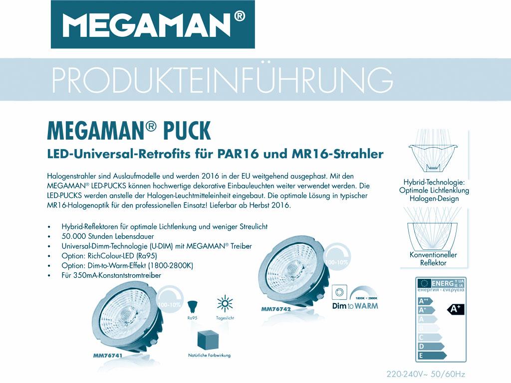MEGAMAN PUCK LED