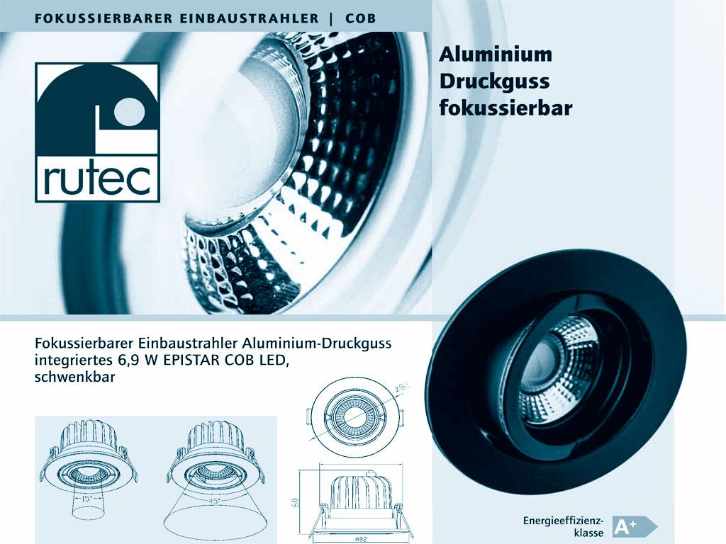 RUTEC Fokussierbarer LED Einbaustrahler COB