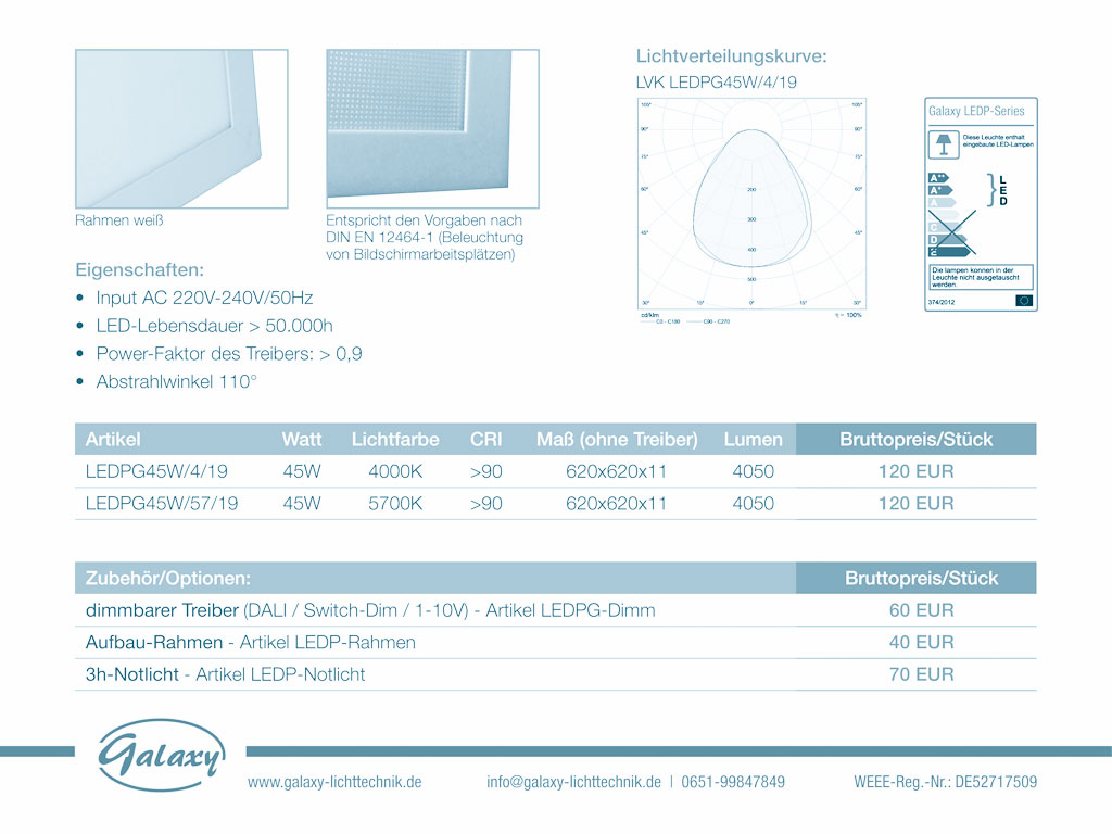 GALAXY Premium LED Panel