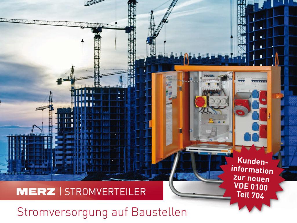 Normenänderung für Baustromverteiler VDE 0100 Teil 704